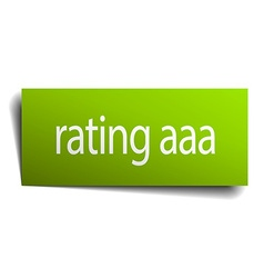 Rating aaa square paper sign isolated on white vector
