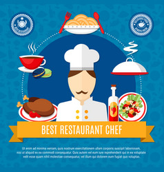 restaurant chef concept vector image