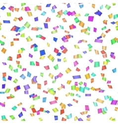 Seamless background with many confetti vector image vector image