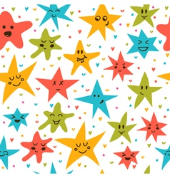 Seamless pattern with funny little stars Stylish vector image