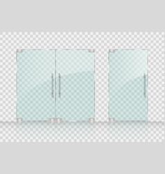 store mall glass doors for market and boutique vector image vector image