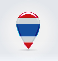 Thai icon point for map vector