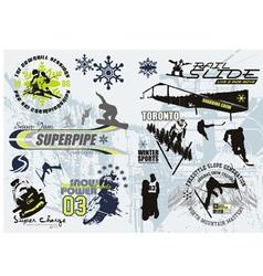 winter sport vector image vector image