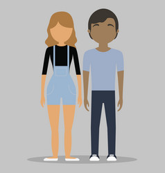 young couple icon vector image vector image