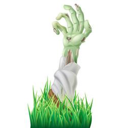zombie arm vector image vector image
