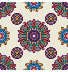 Indian mandala round pattern vector