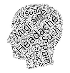 Headache and migraine pain relief through vector