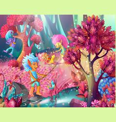cartoon game design magic template vector image