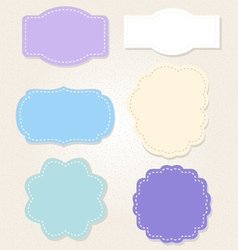 Sweet vintage blue labels set vector