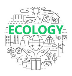 Ecology and environment concept thin vector