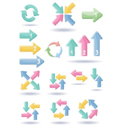 Set of web arrows vector