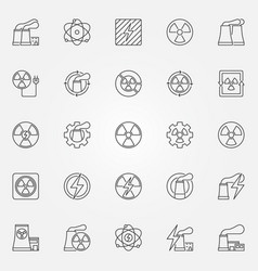 Nuclear power icons set vector
