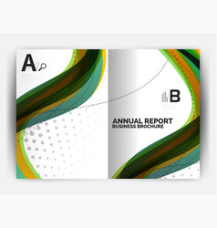 Business report cover template wave vector