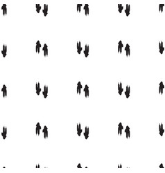 minimal seamless pattern with dinosaur foots vector image