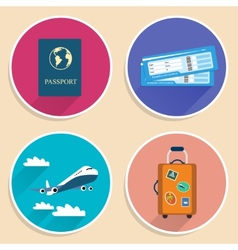 Vacation Travel Voyage Icons Set vector image