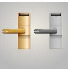 doorknobs with lock vector image