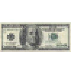100 dollars pixelart vector image