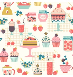Berry sweets pattern vector