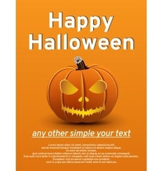 Halloween poster pumpkin vector