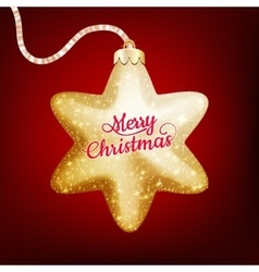 Christmas decoration with golden star eps 10 vector