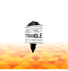 Abstract orange triangle field perspetive pattern vector