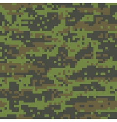Woodland digital camo pattern vector
