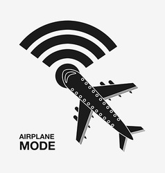 airplan mode design vector image