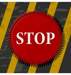 Red stop button vector