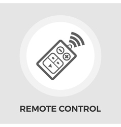 Remote control flat icon vector