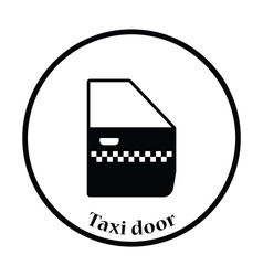 Taxi side door icon vector image