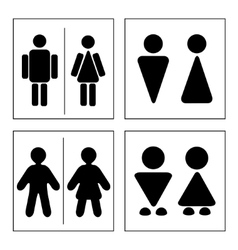 A man and a lady toilet sign vector