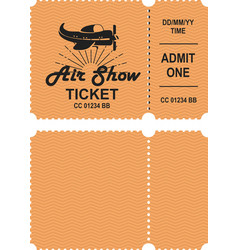 Aero show ticket vector
