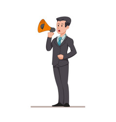 businessman or manager says to the speaker man vector image