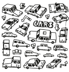 cars - doodles set vector image vector image
