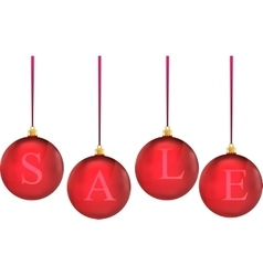 christmas sale in colorful balls vector image vector image