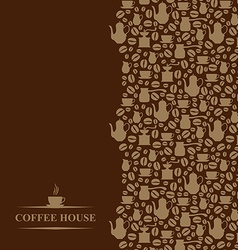 Coffee vertical brown vector