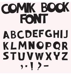 Comic book font vector