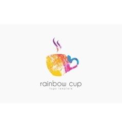 Cup logo creative logo rainbow cup logo company vector