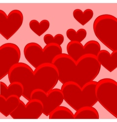 Festive background from heart vector image
