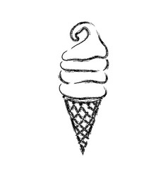Figure sweet ice cream in the cornet vector