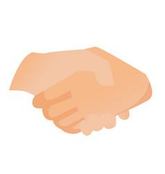 handshake cartoon vector image