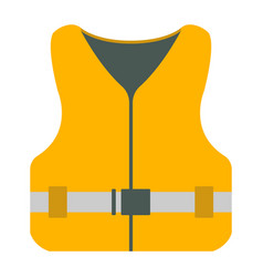 Life jacket icon tourism equipment vector