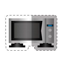 Microwave appliance home cut line vector