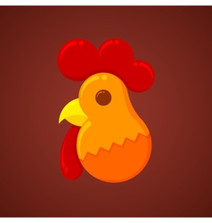 New Year Christmas Rooster symbol of the new year vector image vector image