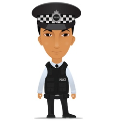 police officer uk vector image vector image