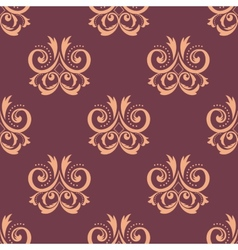 Purple and pink seamless floral pattern vector