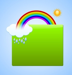 Rainbow scene plaque vector