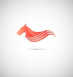 Red hound vector