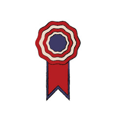 Rosette with flag american color symbol vector