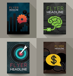 Set of Business Brochure Flyer design template vector image vector image